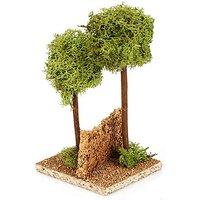 Baum-Gruppe mit 2 Bäumen, 9,5 x 9 x 16 cm