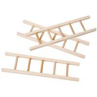 Mini-Leitern aus Holz, 15 x 4 cm, 3 Stück
