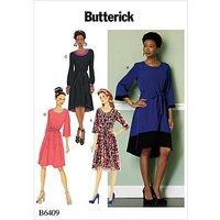 """Butterick Schnitt B6409 """"A-Linie-Kleid"""""""
