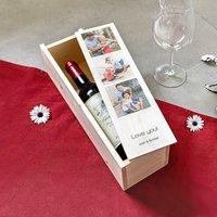 Weinkiste aus Holz personalisieren