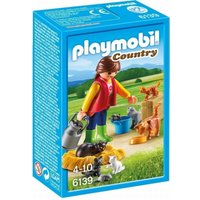 Playmobil Country Woman With Cat Family 6139