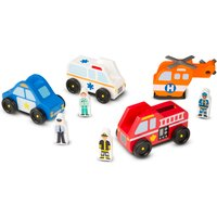 Melissa & Doug Emergency Vehicle Set