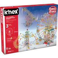 K'NEX Thrill Rides 3-In-1 Classic Amusement Park Building Set - Thrill Gifts