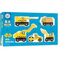 Bigjigs Rail Site Vehicles Set - Hamleys Gifts