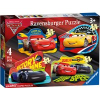 Ravensburger Disney Cars 3 4-in-1 Shaped Jigsaw Puzzle Set - Jigsaw Puzzle Gifts