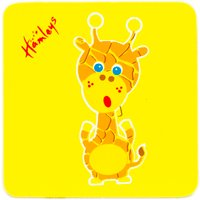 Hamleys Wooden Giraffe Plaque - Giraffe Gifts