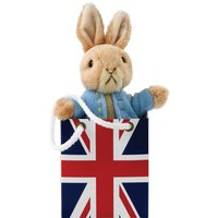 Peter Rabbit Small Soft Toy In Union Jack Bag