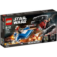 LEGO Star Wars A-Wing v TIE Silencer Microfighters 75196