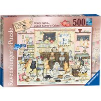 Ravensburger Vintage Crazy Cats Kitty Cakes 500 Piece Puzzle - Cakes Gifts