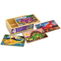Melissa & Doug Dinosaurs Puzzles In A Box - Puzzles Gifts