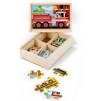 Melissa & Doug Vehicle Puzzles In A Box - Puzzles Gifts