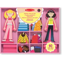 Melissa & Doug Abby & Emma Magnetic Wooden Dress-Up Dolls - Dolls Gifts