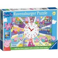 Ravensburger Peppa Pig Clock Puzzle 60 Piece Puzzle