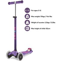Click to view product details and reviews for Micro Scooter Maxi Deluxe Led Purple.