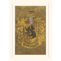 Harry Potter Hufflepuff Crest Loose Mounted Print