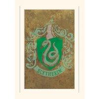 Harry Potter Slytherin Crest Loose Mounted Print