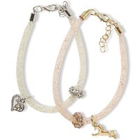 Luvley Mesh and Charm Bracelets (2 Pack)
