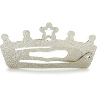 Luvley Gold Glitter Crown Snap Clips (2 Pack)