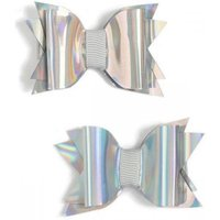 Luvley Silver Holographic Bows (2 Pack) - Bows Gifts