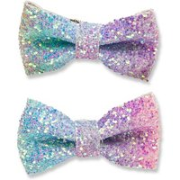 Luvley Multicoloured Crunchy Glitter Bows (2 Pack) - Bows Gifts