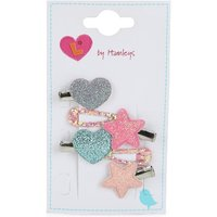Luvley Pastel Heart and Star Croc Clips (6 Pack)