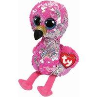 TY Pinky Flamingo Sequin Flippable Boo Medium
