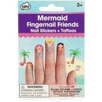 Mermaid Fingernail Friends Nail Sticker & Tattoos Set
