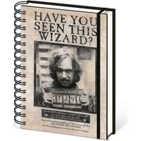 Harry Potter Wanted Sirius Black A5 Premium Notebook - Harry Potter Gifts