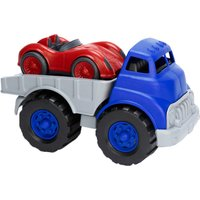 Green Toys Flatbed Truck with Race Car Set - Car Gifts