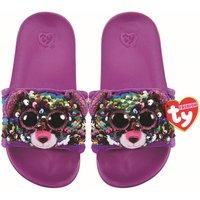 TY Dotty Leopard Flip Slides Sandals Large