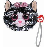 TY Kiki Cat Cat Sequin Wristlet Purse