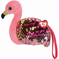 TY Gilda Flamingo Sequin Wristlet Purse