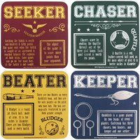 Harry Potter Quidditch Coaster Set - Harry Potter Gifts