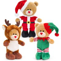 Keel Toys Christmas Pipp the Bear with Sound 30cm Asstd - Soft Toys Gifts
