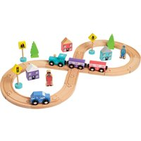 Hamleys Wooden Figure Of 8 Train & Track set - Track Gifts