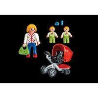 Playmobil City Life Mother With Twin Stroller 5573