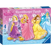 Ravensburger Disney Princess 4 Large Shaped Puzzles