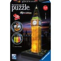 Ravensburger Big Ben Night Edition 216 Piece 3D Puzzle - Ravensburger Gifts