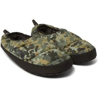The North Face - Camouflage-print Quilted Ripstop Primaloft Slippers - Army green
