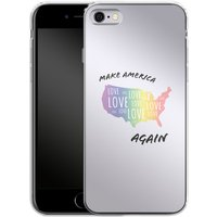 Apple iPhone 6s Silikon Handyhülle - Make America Love Again von caseable Designs