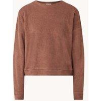 America Today Mia sweater van badstof met ronde hals