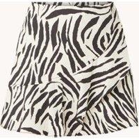 MANGO Zebri minirok met volant en zebraprint