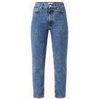 MANGO Mom high waist straight leg cropped jeans