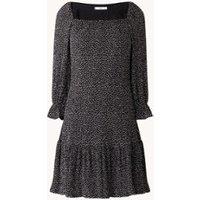 MANGO Loli mini jurk met stippenprint en plissé