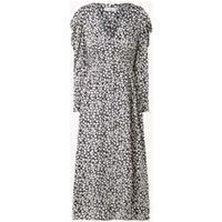 MANGO Gilda midi jurk met pofmouw en bloemenprint