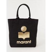 Isabel Marant Yenky shopper van canvas met metallic logo