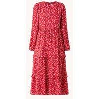 Forever New Selma gelaagde midi jurk met bloemenprint en ruches