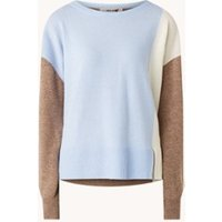 MOS MOSH Layla pullover van wol met colourblocking