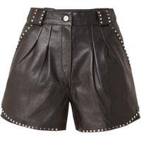 Maje Ilyad high waist shorts van lamsleer met studs