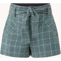 Maje Itrito high waist straight fit korte broek in wolblend